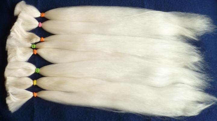 HQ Alpaka Haar ca, 10g Platinum Blonde 18 - 20 cm