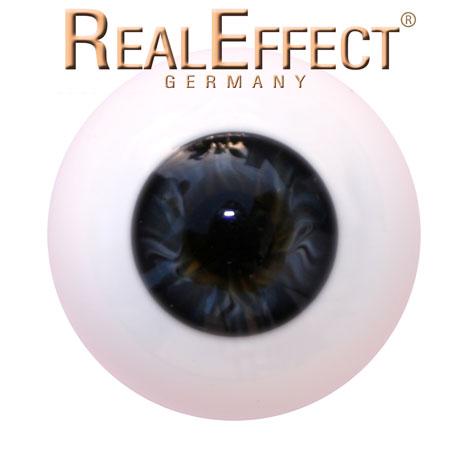 22mm Lauschaerglasaugen schwarzblau kleine Iris