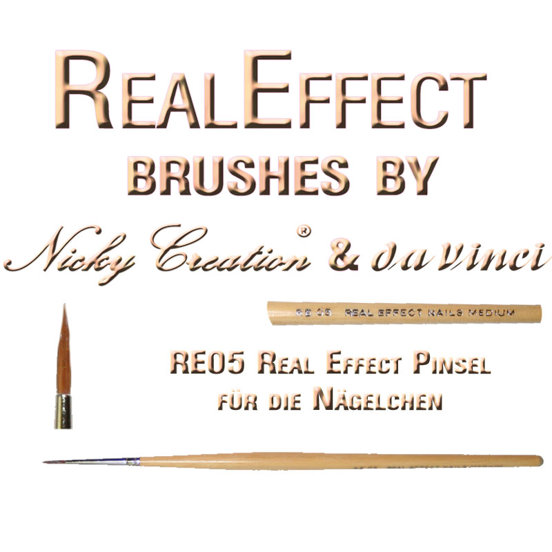 Real Effect RE06 Nails Small Nicky Creation & Da Vinci Germany