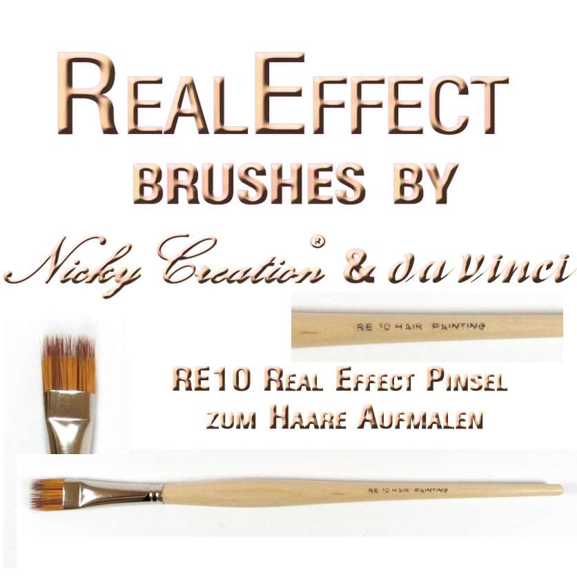 Real Effect RE11 Hair Painting 2 Nicky Creation & Da Vinci Germany