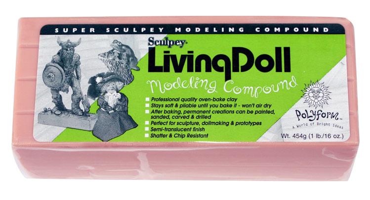 Modelliermasse Living Doll beige ein Barren (454g)